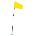 Yellow golf flag vector image