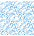 cute blue waves hand drawn seamless pattern can vector image