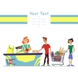Characters In Supermarket vector image