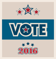 Political election icons and text set vector image