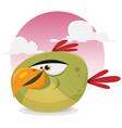 toon exotic bird vector image