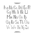 Latin alphabet vector image