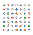 abstract icons for web vector image vector image
