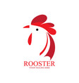 abstract red head rooster logo vector image vector image