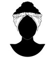 african style turban vector image vector image