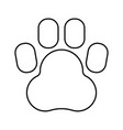 animal footprint black color icon vector image vector image