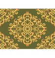 Art pattern wallpaper on green background vector image vector image