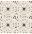 Astrology sign Lion Seamless pattern