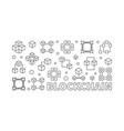 blockchain horizontal block chain banner vector image vector image