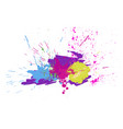 brigh paint spots on a white background abstract vector image vector image