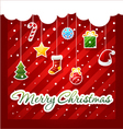 Christmas Greeting Card christmas items icons vector image