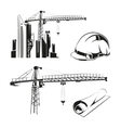 construction elements vector image vector image