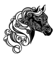 Decorative Horse with Patterned Mane vector image