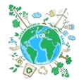 Doodle Ecology Concept vector image