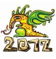 dragon emblem vector image