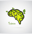 Eco brain abstract icon