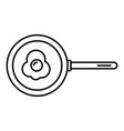 egg fry pan icon outline style vector image