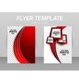 Flyer back and front design template vector image