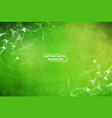 green geometric polygonal background molecule and vector image vector image