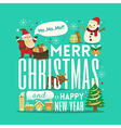Greeting Christmas and New Year cute typography vector image