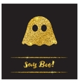 Halloween gold textured ghost icon vector image vector image