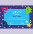 horizontal children diploma or certificate vector image