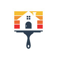house building paint logo vector image vector image