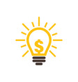 idea dollar icon graphic design template vector image