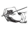 incorrect penmanship pens vintage engraving vector image vector image