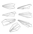 isolated paper planes vector image vector image