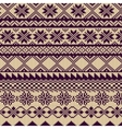 Knitted background with pattern in Fair Isle style vector image vector image