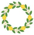 Lemon Wreath vector image vector image