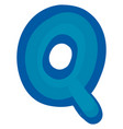 letter q on white background vector image vector image