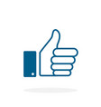 like - icon like in flat style like icon thumb up vector image vector image