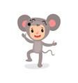 little kid with happy face expression in mouse vector image