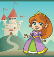 little princess landscape vector image