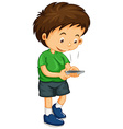 Littley boy dialing number on the phone vector image vector image