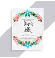 lovely flourish wedding card design vector image vector image