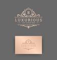 luxury logo monogram vintage vignette floral vector image