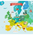 map europe with names vector image