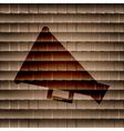 megaphone loud-hailer flat modern web button vector image vector image