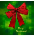 Merry Christmas Hand Drawn Bow vector image
