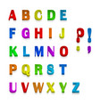 multicolor 3d fonts available all letters vector image