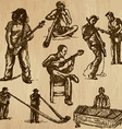 Musicians - An hand drawn pack vector image vector image