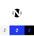 n in circle minimalism logo letter n vector image