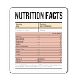 Nutrition Facts label template vector image vector image