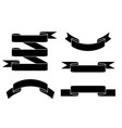 paper scrolls flat black set vector image vector image