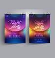 party flyer or poster layout template vector image vector image