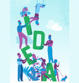 people work together on a great idea vector image vector image
