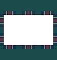 rectangle frame vintage pattern design template vector image vector image